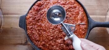 The best way to freeze pasta sauce.