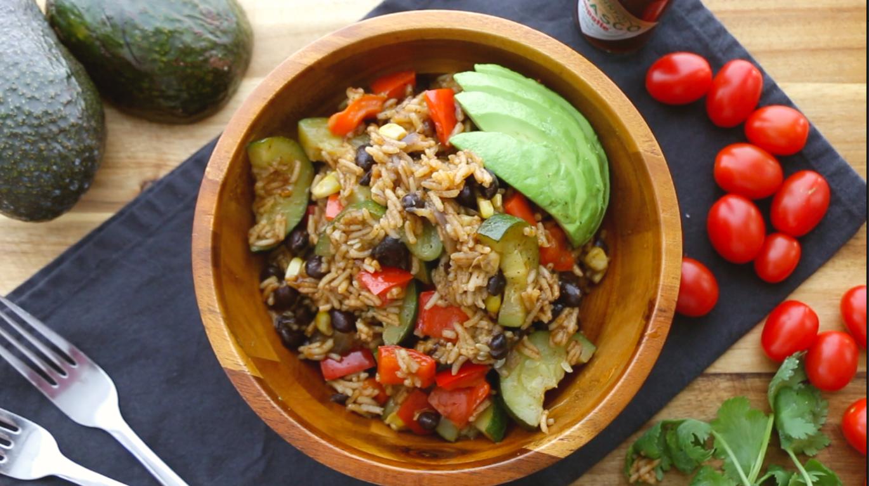 One pot vegan burrito bowl